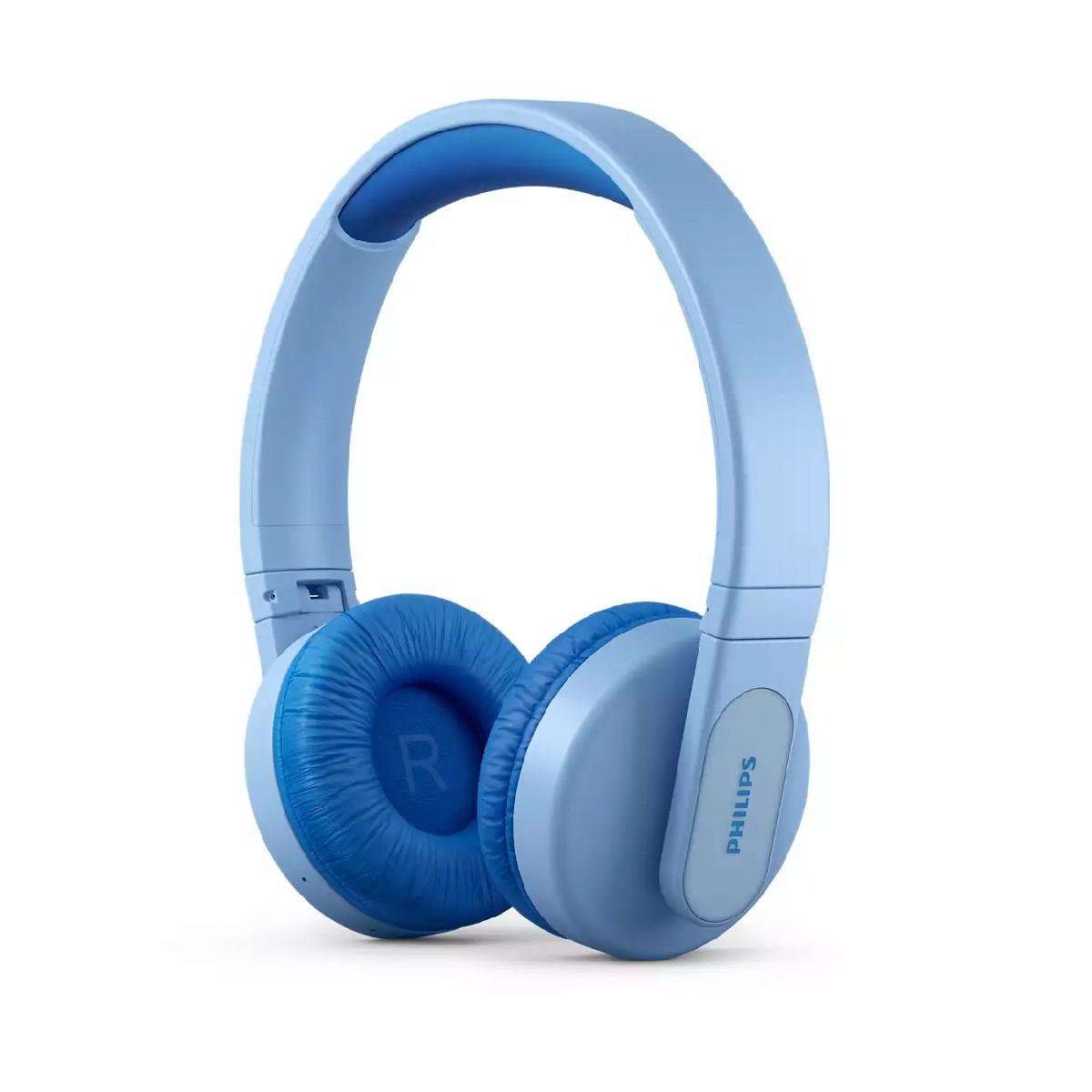 Bluetooth Ακουστικά Stereo Philips Kids TAK4206BL/00 V5.0 Μπλέ On-ear με Μικρόφωνο, Φωτισμό, Πλήκτρα Ελέγχου και Εφαρμογή Γονικού Ελέγχου