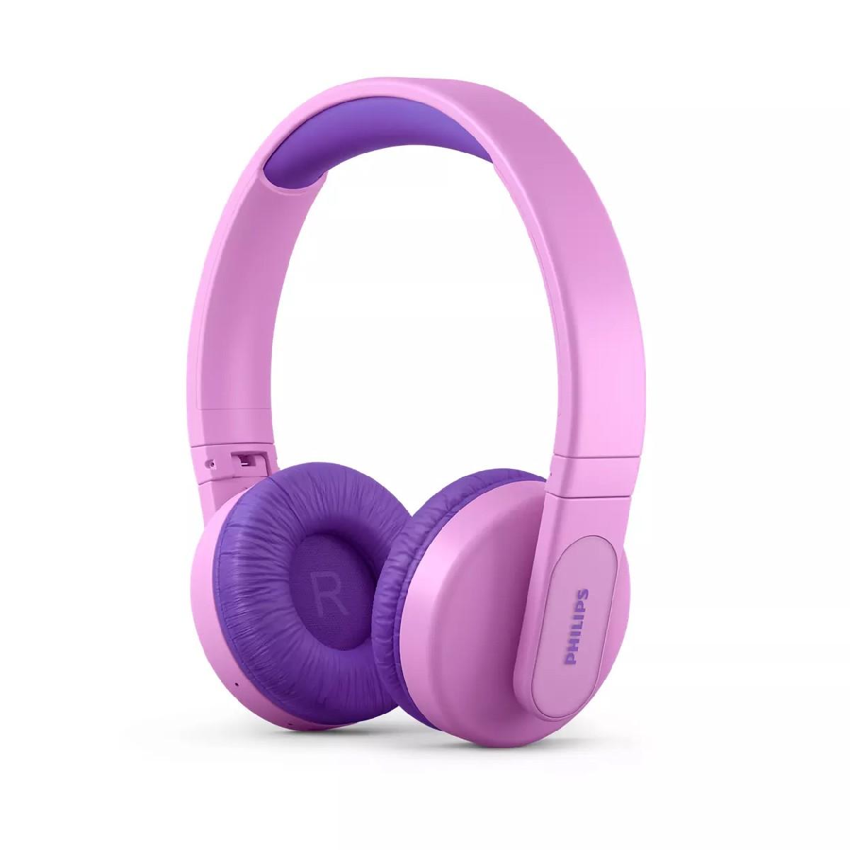 Bluetooth Ακουστικά Stereo Philips KidsTAK4206PK/00 V5.0 Ροζ On-ear με Μικρόφωνο, Φωτισμό, Πλήκτρα Ελέγχου και Εφαρμογή Γονικού Ελέγχου