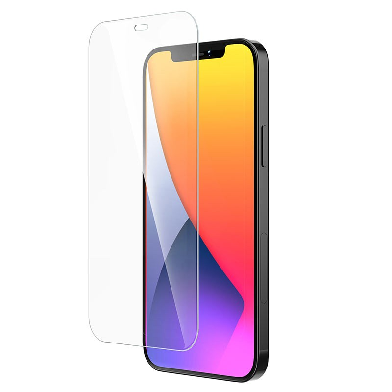 Tempered Glass Hoco G6 Instant Full Screen High-Definition HD 2.5D για Apple iPhone 12 / iPhone 12 Pro Μαύρο Σετ 10 τμχ.