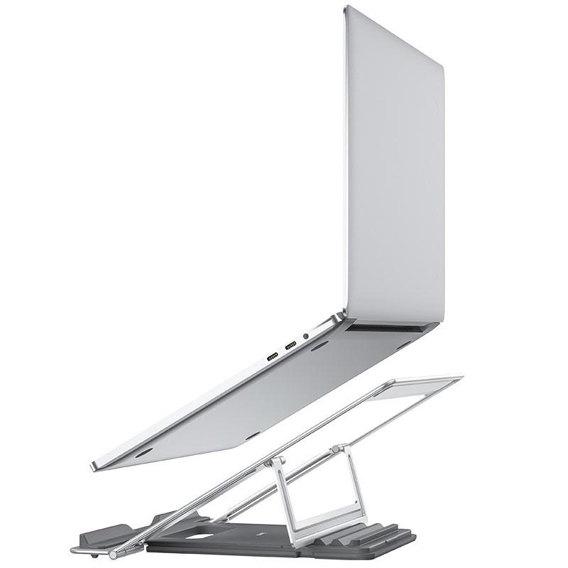 Βάση Στήριξης Επιτραπέζια Hoco PH37 Excellent για Φορητές Συσκευές και Laptops με Πτυσσόμενη Λειτουργία Ασημί