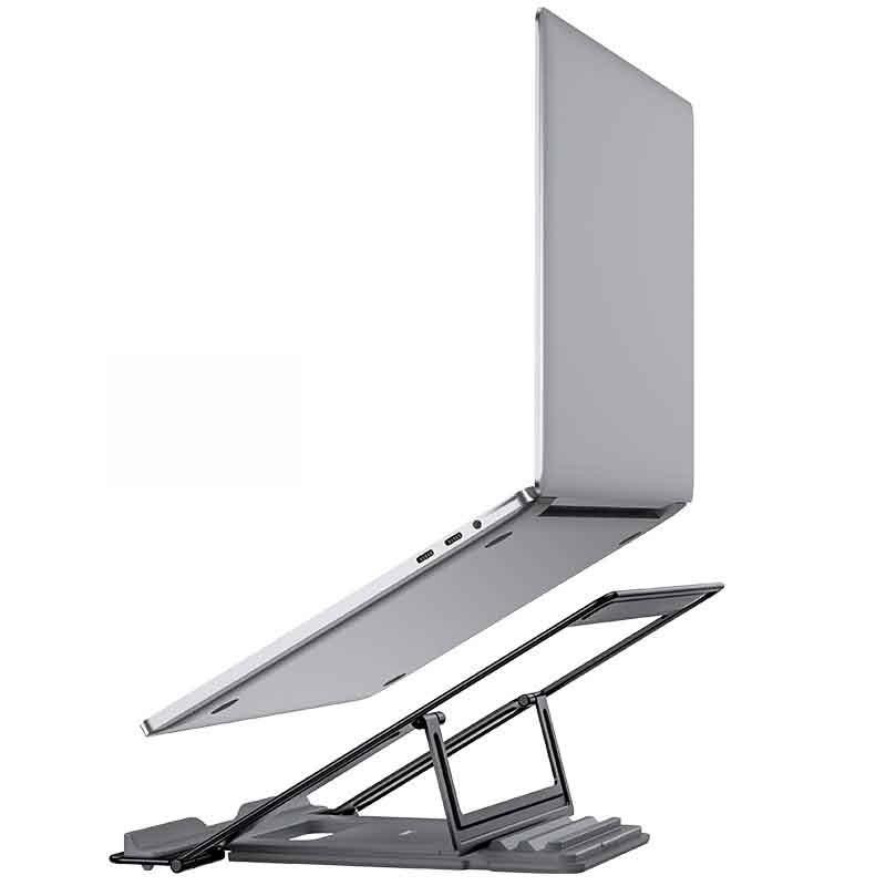 Βάση Στήριξης Επιτραπέζια Hoco PH37 Excellent για Φορητές Συσκευές και Laptops με Πτυσσόμενη Λειτουργία Γκρι