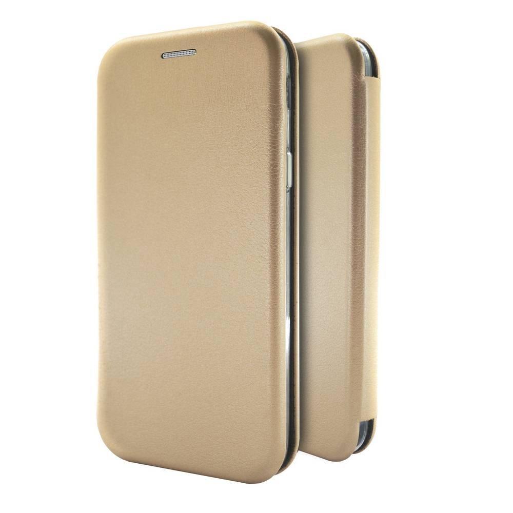 Θήκη Book Ancus Magnetic Curve για Xiaomi Redmi Note 10 / Redmi Note 10S  TPU Χρυσό