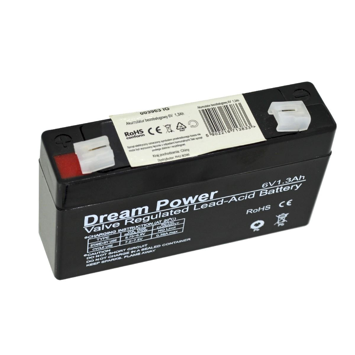 Μπαταρία για UPS AGM Dream Power (6V 1.3 Ah)