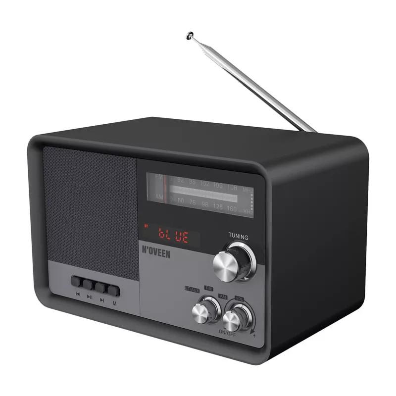 Φορητό Ραδιόφωνο N'oveen PR950 3.7V 2200mAh μεBluetooth, Υποδοχή USB,micro SD,Aux-in, Τροφοδοσία Ρεύματο και Μπαταρίας Μαύρο