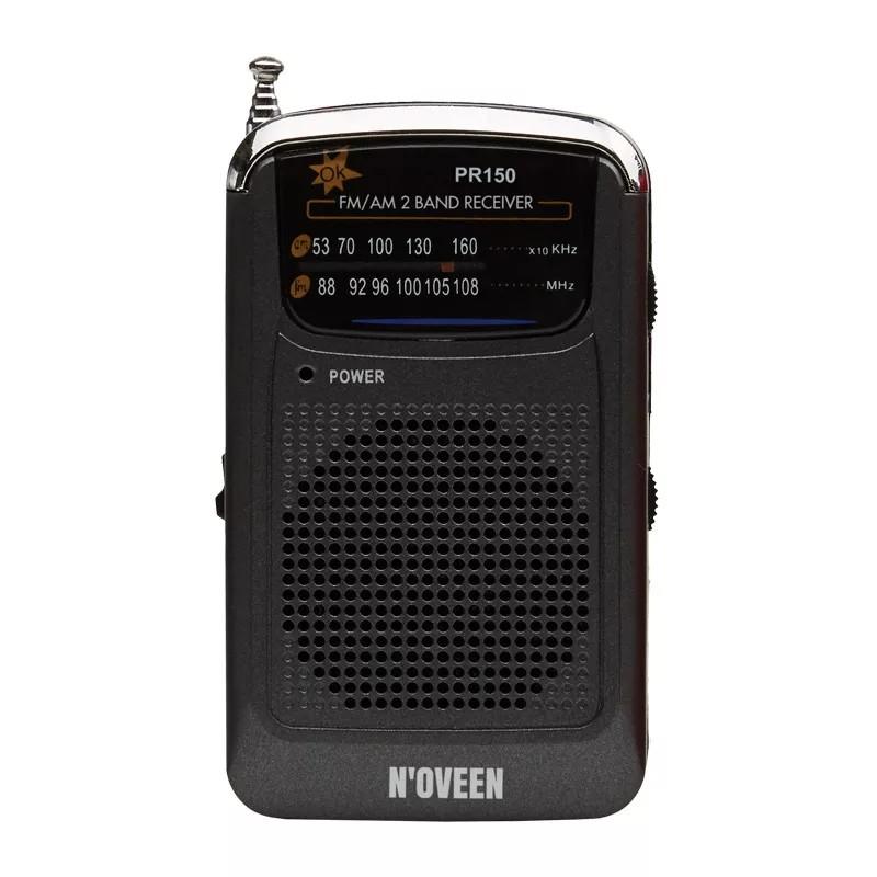 Φορητό Ραδιόφωνο N'oveen PR150  AM/FM, με Hands Free 3.5mm,με Λειτουργία  Μπαταρίας 2 x 1,5V AAA  Μαύρο