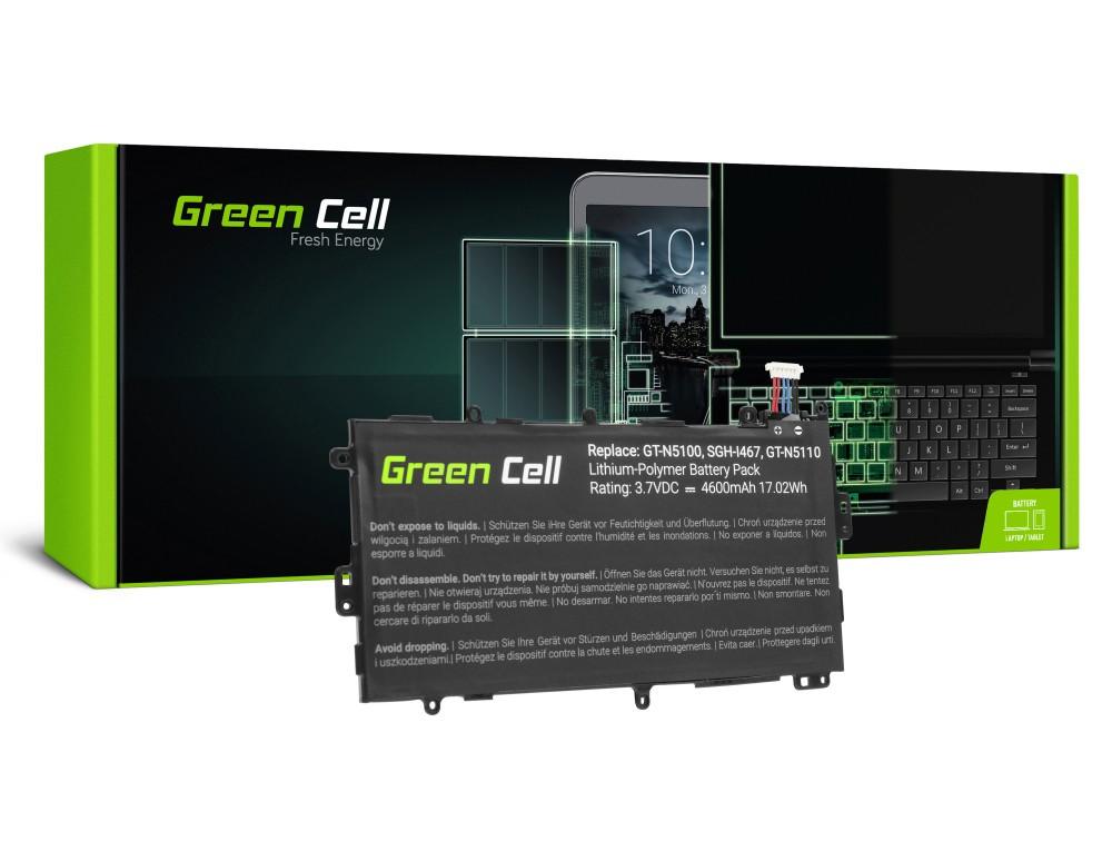 Μπαταρία Green Cell TAB23 Τύπου για Samsung Galaxy Note 8.0 GT-N5100 GT-N5110 GT-N5120  3.7V 4600 mAh