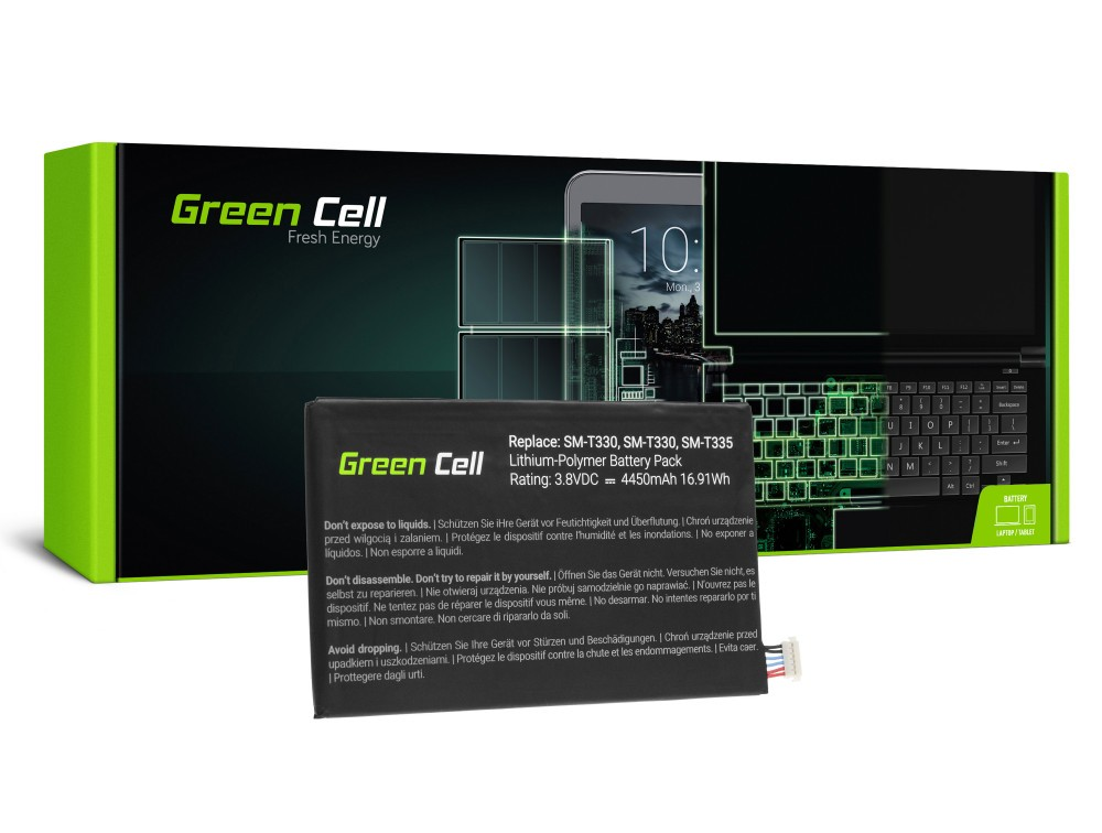 Μπαταρία Green Cell TAB27 Τύπου EB-BT330FBE για Samsung για  Galaxy Tab 4 8.0 T330/T331/T335 3.8V 4450mAh