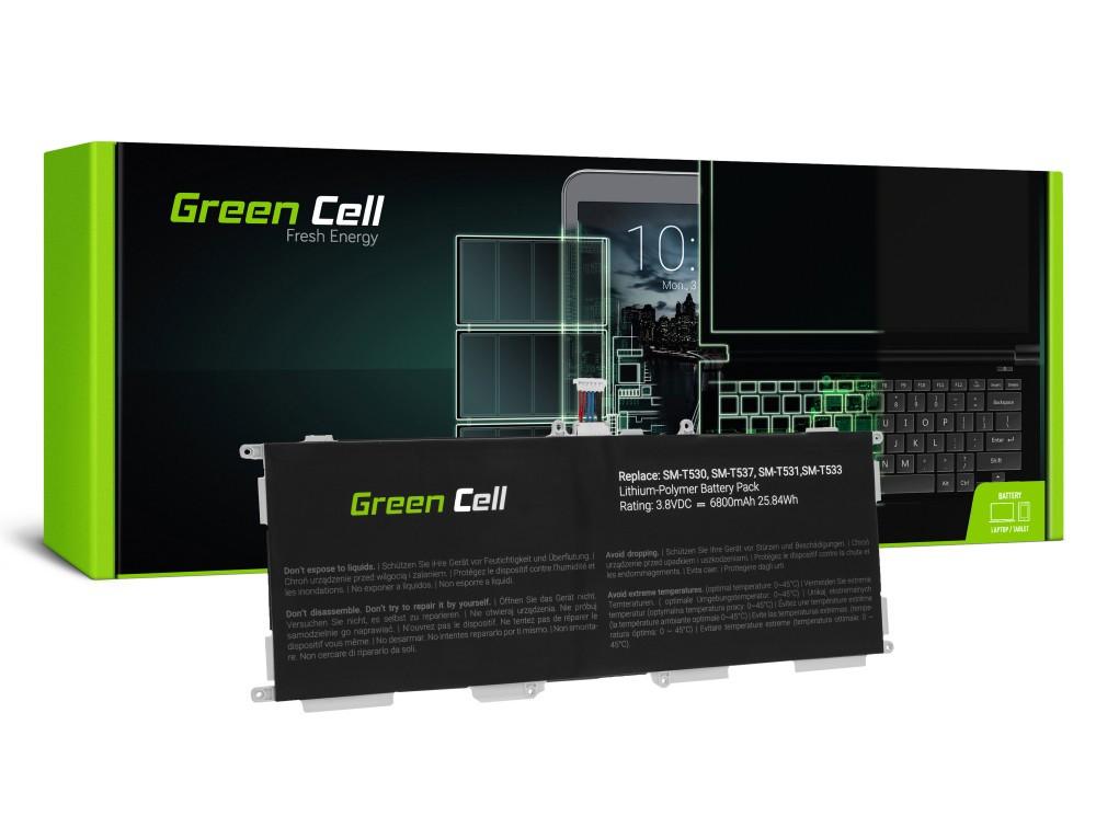 Μπαταρία Green Cell TAB40 Τύπου EB-BT530FBC EB-BT530FBU για Samsung για Galaxy Tab 4 10.1 T530/T535/T537 3.8V 6800mAh
