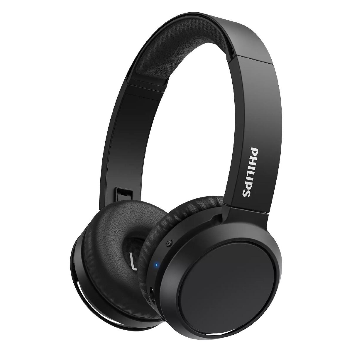 Bluetooth Ακουστικά Stereo Philips TAH4205BK/00 Μαύρα με Μικρόφωνο για Κινητά Τηλέφωνα και Συσκευές Ήχου