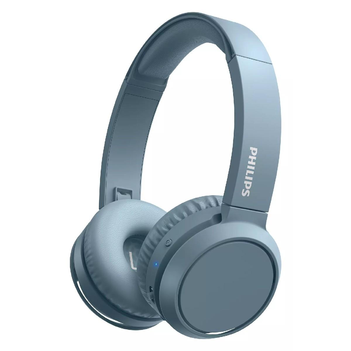 Bluetooth Ακουστικά Stereo Philips TAH4205BL/00 Μπλέ με Μικρόφωνο για Κινητά Τηλέφωνα και Συσκευές Ήχου