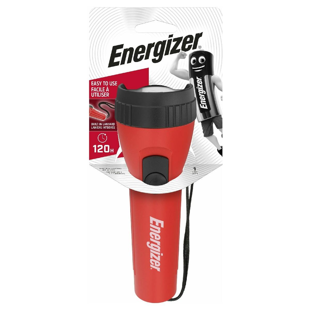Φακός Energizer LED 2D Lumens με Χαμηλό Βάρος Κόκκινος 25 Lumen