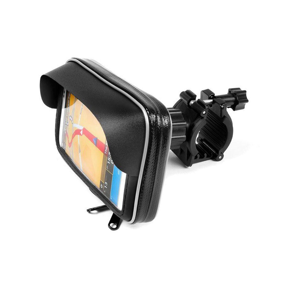 """Βάση Στήριξης Ποδηλάτου με Αδιάβροχη Θήκη moto eXtreme Shield για Smartphone έως 6.5"""" Περιστρεφόμενη και με Έξοδο για Καλώδιο"""