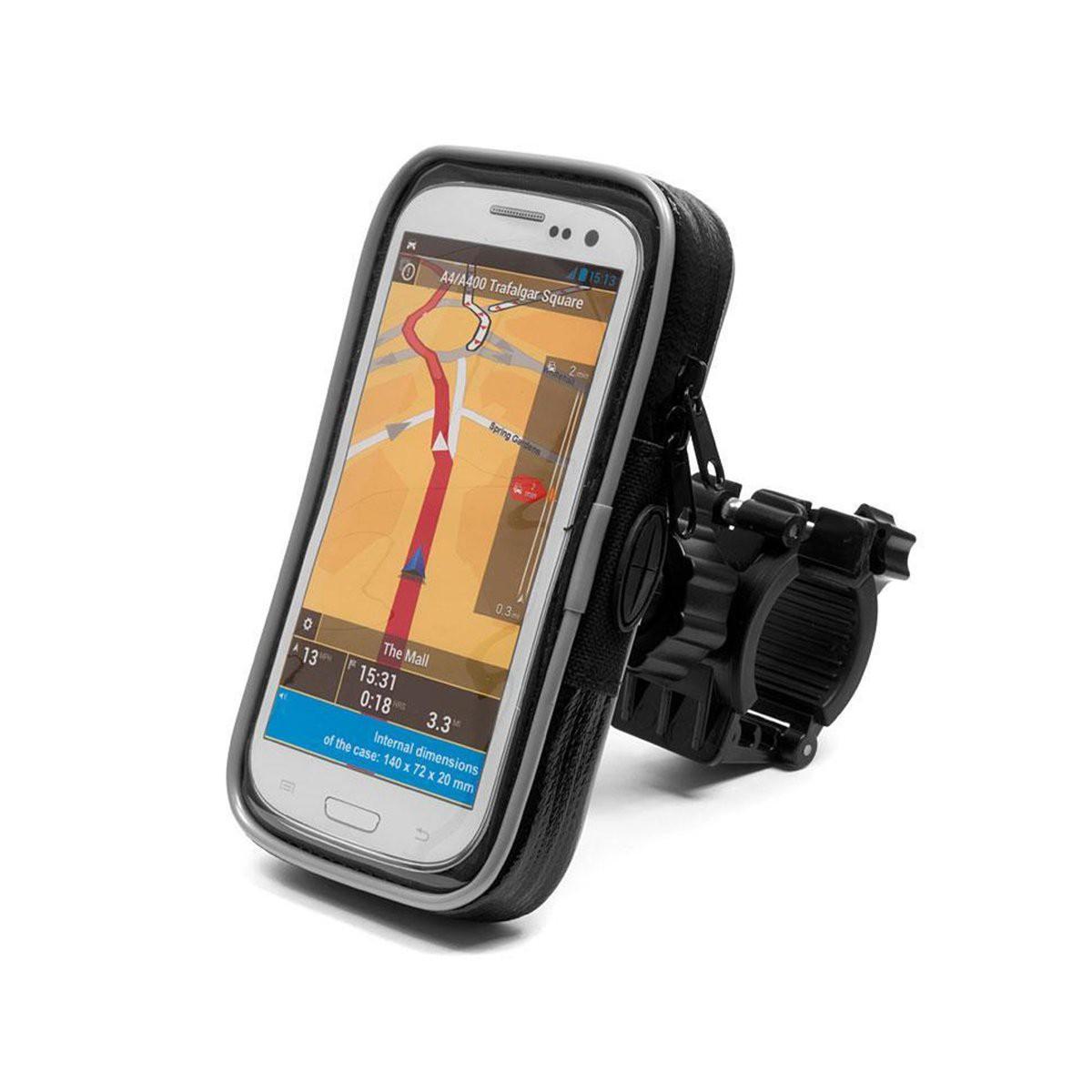 Βάση Στήριξης Ποδηλάτου με Αδιάβροχη Θήκη moto eXtreme για Smartphone Περιστρεφόμενη και με Έξοδο για Καλώδιο 167x90x20