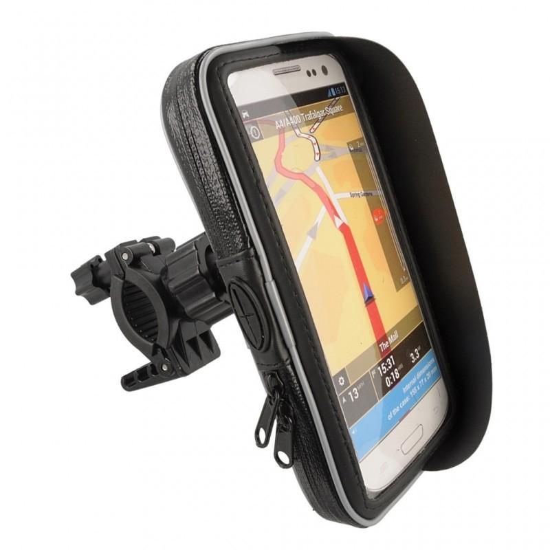 """Βάση Στήριξης Ποδηλάτου με Αδιάβροχη Θήκη moto eXtreme για Smartphone έως 5.5"""" Περιστρεφόμενη και με Έξοδο για Καλώδιο"""