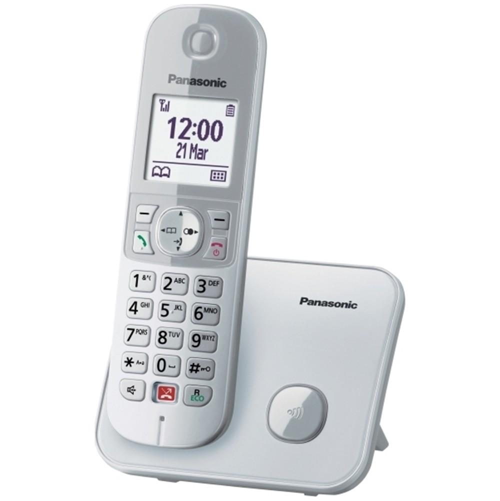 Ασύρματο Ψηφιακό Τηλέφωνο Panasonic KX-TG6851JTS  με Μεγάλη Οθόνη και Ανοιχτή Ακρόαση Ασημί
