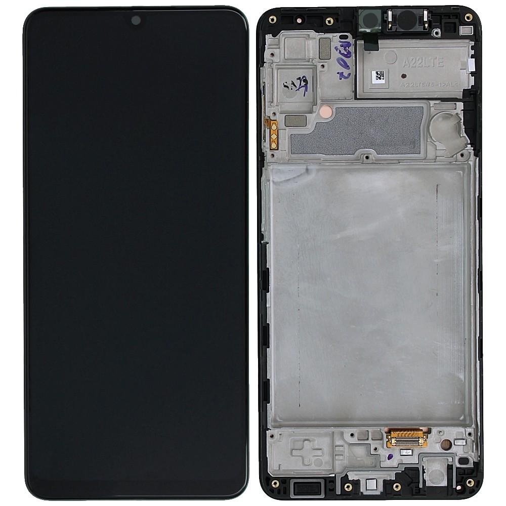 Γνήσια Οθόνη & Μηχανισμός Αφής Samsung SM-A225F Galaxy A22 5G Μαύρο GH82-25944A