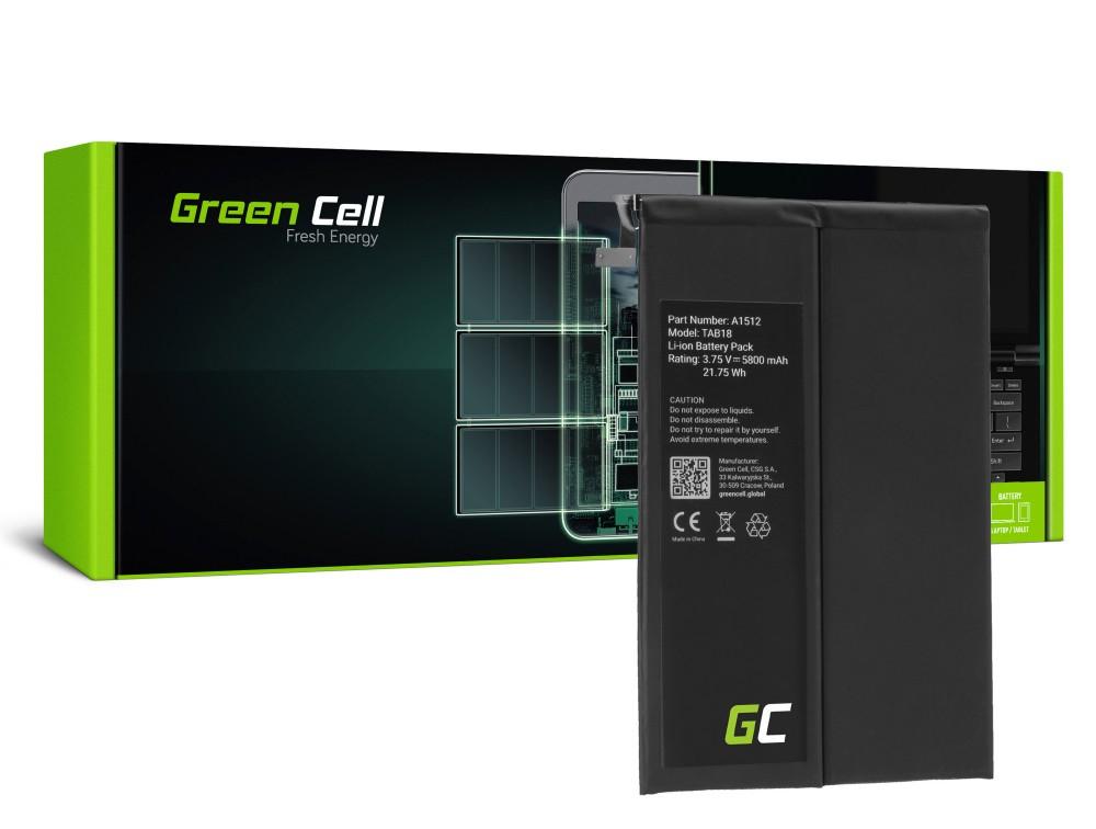 Μπαταρία Green Cell TAB50 Τύπου A1512 για Apple iPad Mini 2 A1489 A1490 A1600 A1491 A1599 2nd Gen iPad Mini 3 A1600 A1601 3.7V 5800mAh
