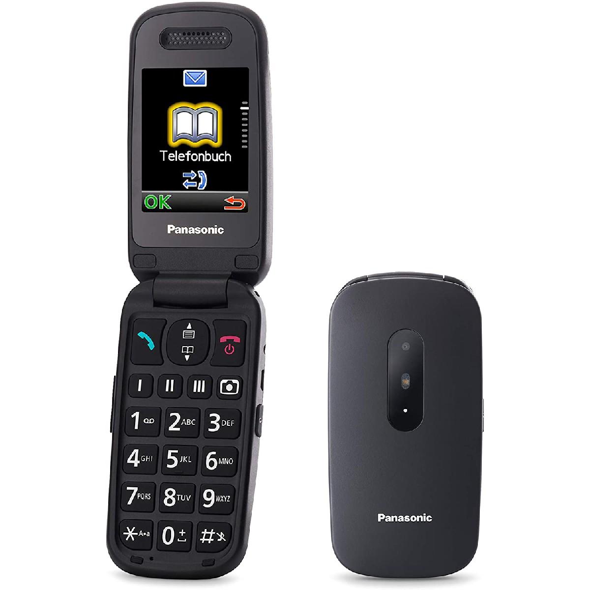 """Panasonic KX-TU446EXB  2.4"""" Μαύρο με MicroSD, Bluetooth, Κάμερα, Μεγάλα Γράμματα και Πλήκτρο SOS"""