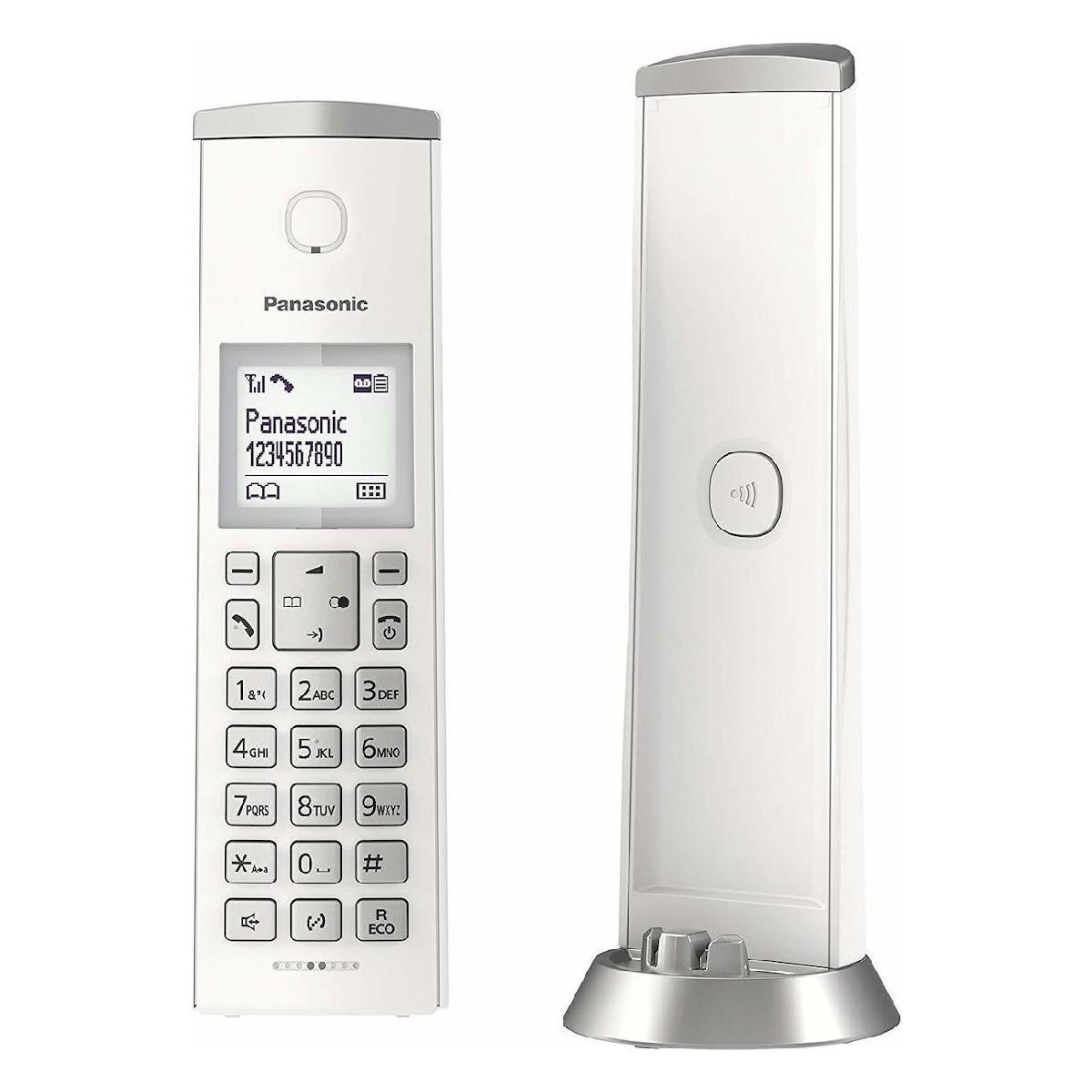 Ασύρματο Ψηφιακό Τηλέφωνο Panasonic KX-TGK210GRW Λευκό Φραγή ενοχλητικών Κλήσεων και Λειτουργία Eco