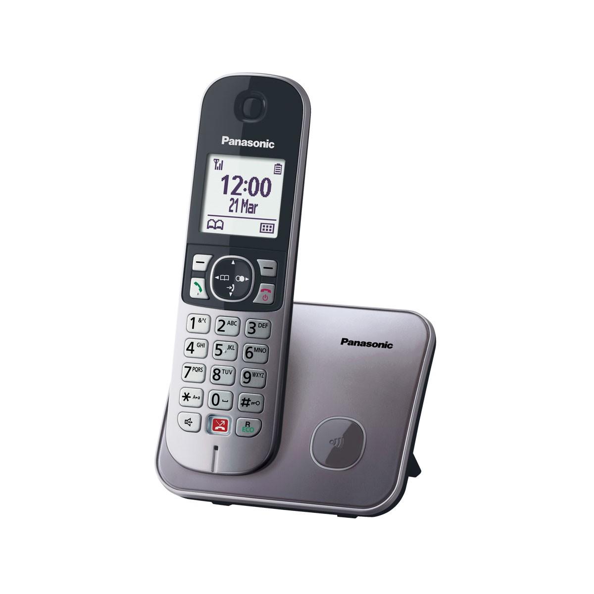 Ασύρματο Ψηφιακό Τηλέφωνο Panasonic KX-TG6851GRM με Μεγάλη Οθόνη και Ανοιχτή Ακρόαση Γκρί