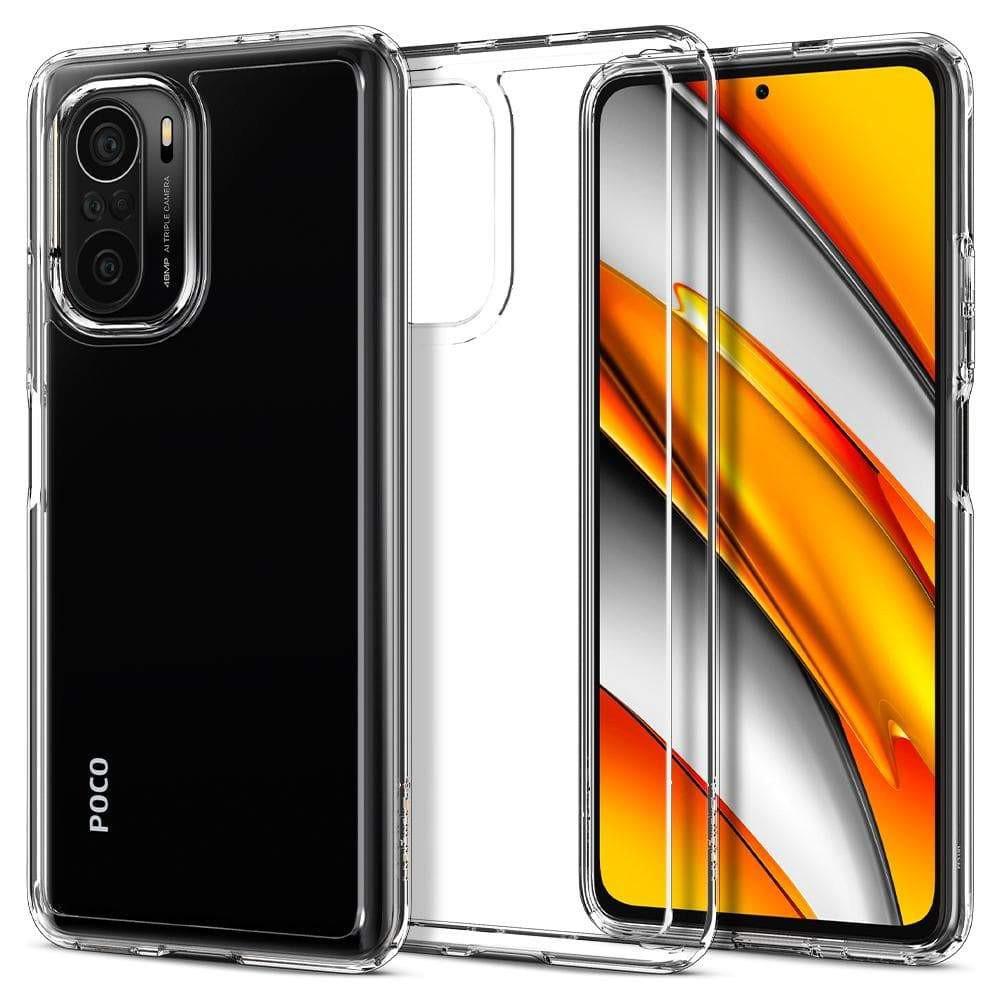 Θήκη Spigen Ultra Hybrid Back Cover για Xiaomi Poco F3 / Mi 11i Διάφανη