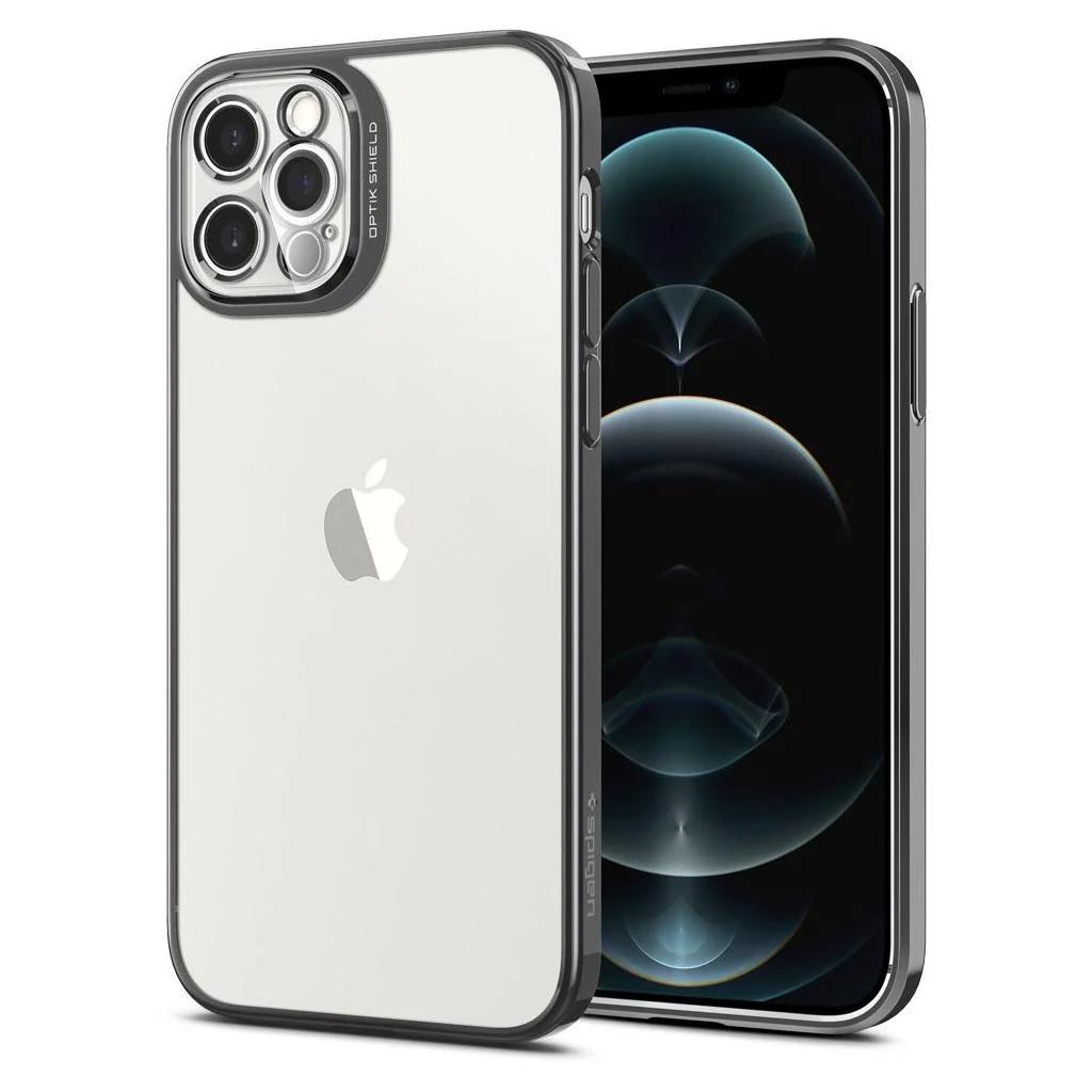 Θήκη Spigen Optic Crystal Back Cover για Apple iPhone 12 Pro Γκρι
