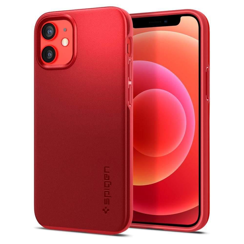 Θήκη Spigen Thin Fit Back Cover για Apple iPhone 12 Mini Κόκκινο