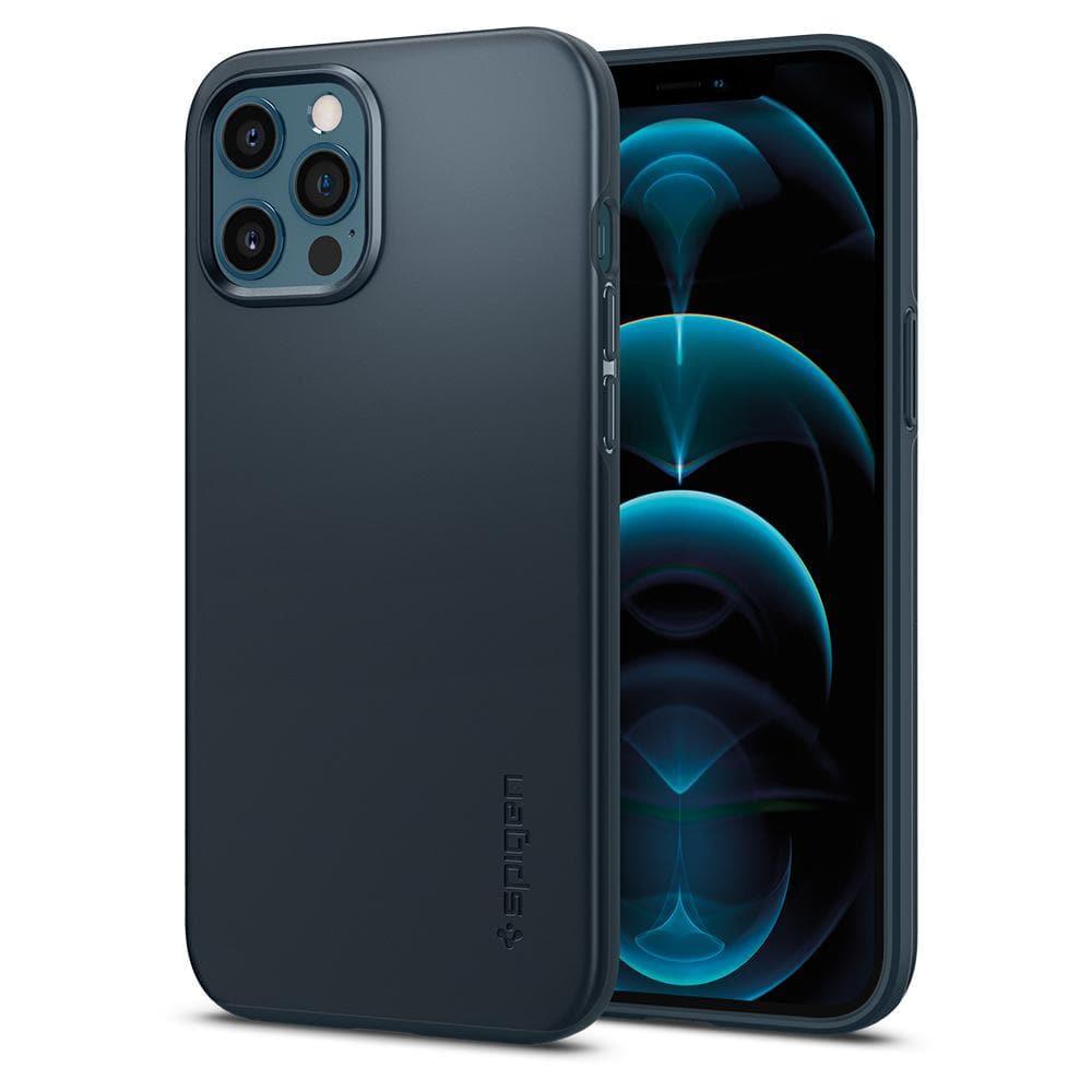 Θήκη Spigen Thin Fit Back Cover για Apple iPhone 12 Pro Max Σκούρο Μπλε