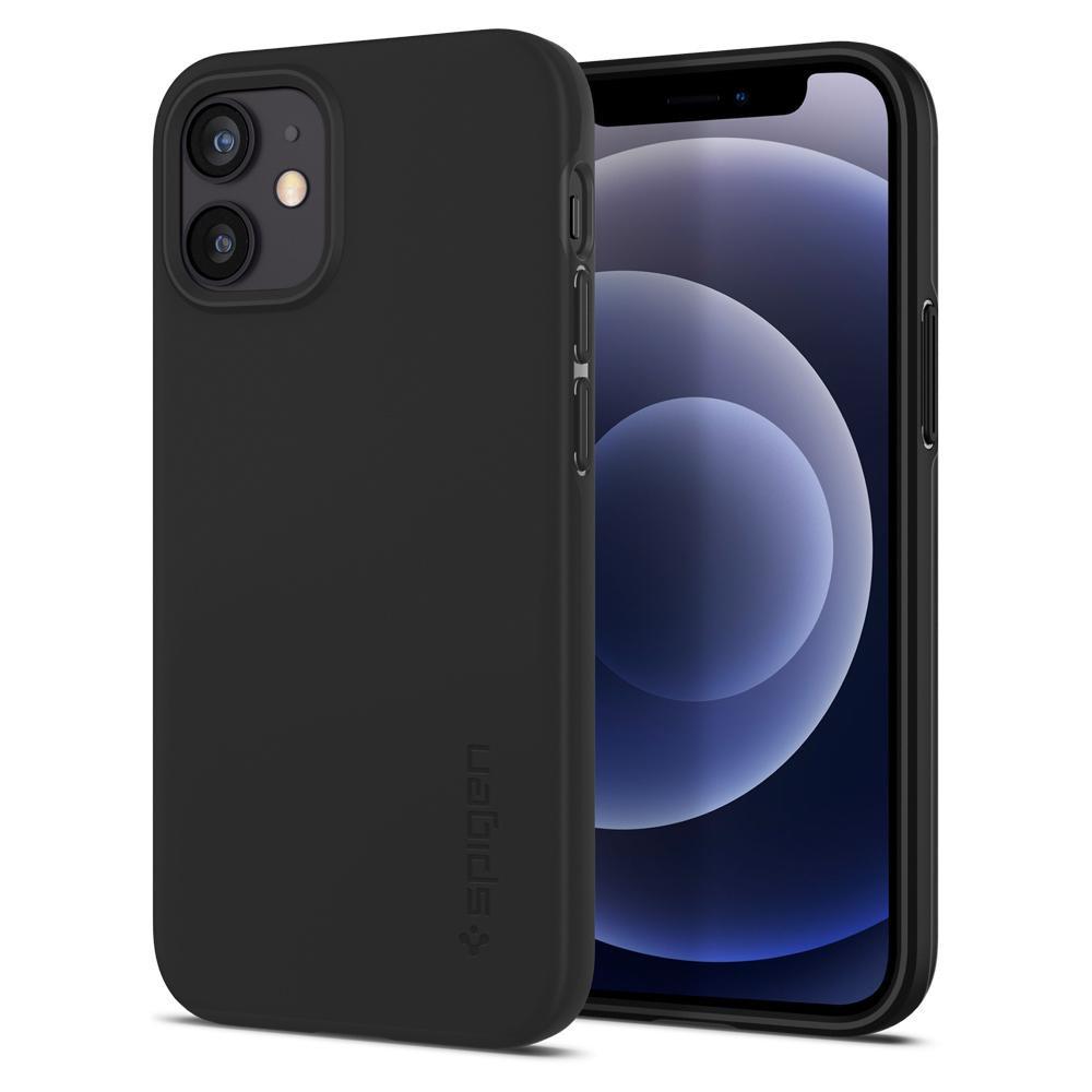 Θήκη Spigen Thin Fit Back Cover για Apple iPhone 12 Mini Μαύρο