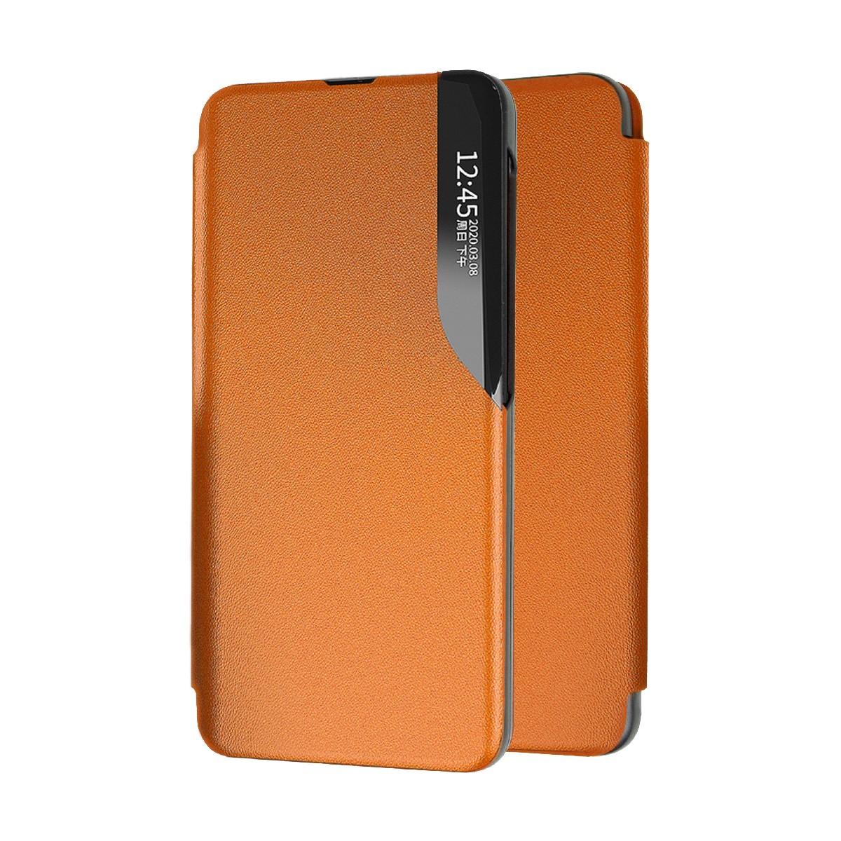 Θήκη Book Ancus Smart Flip για Samsung SM-A125F Galaxy A12 TPU Πορτοκαλί
