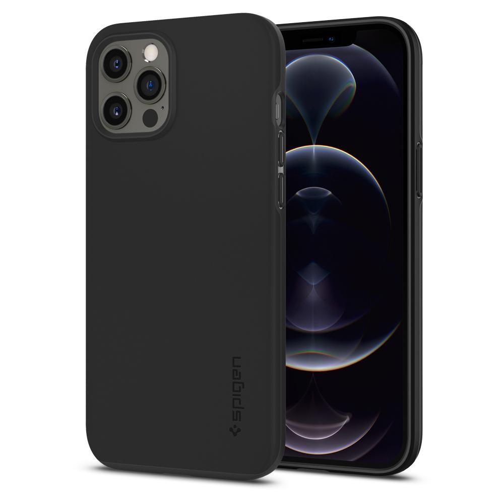 Θήκη Spigen Thin Fit Back Cover για Apple iPhone 12 Pro Max Μαύρο