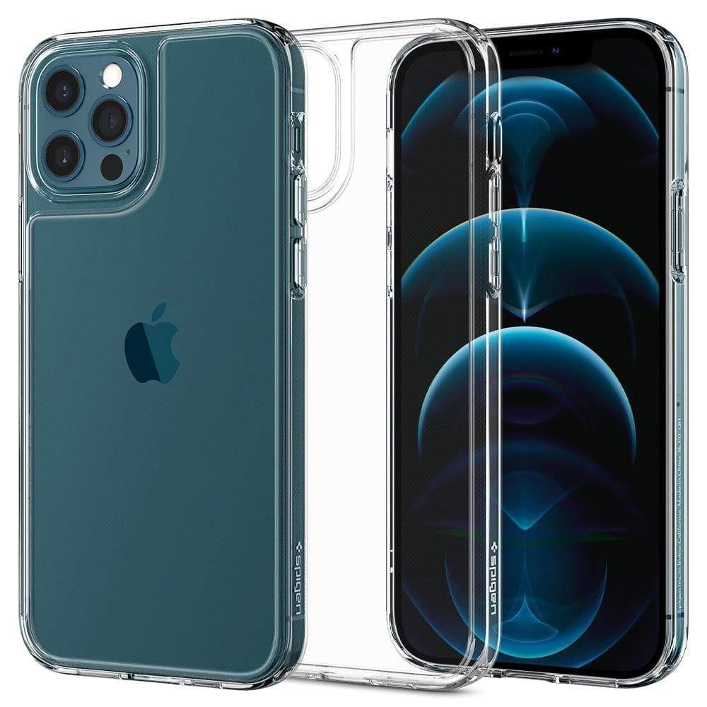Θήκη Spigen Quartz Hybrid Back Cover για Apple iPhone 12 / 12 Pro Διάφανη