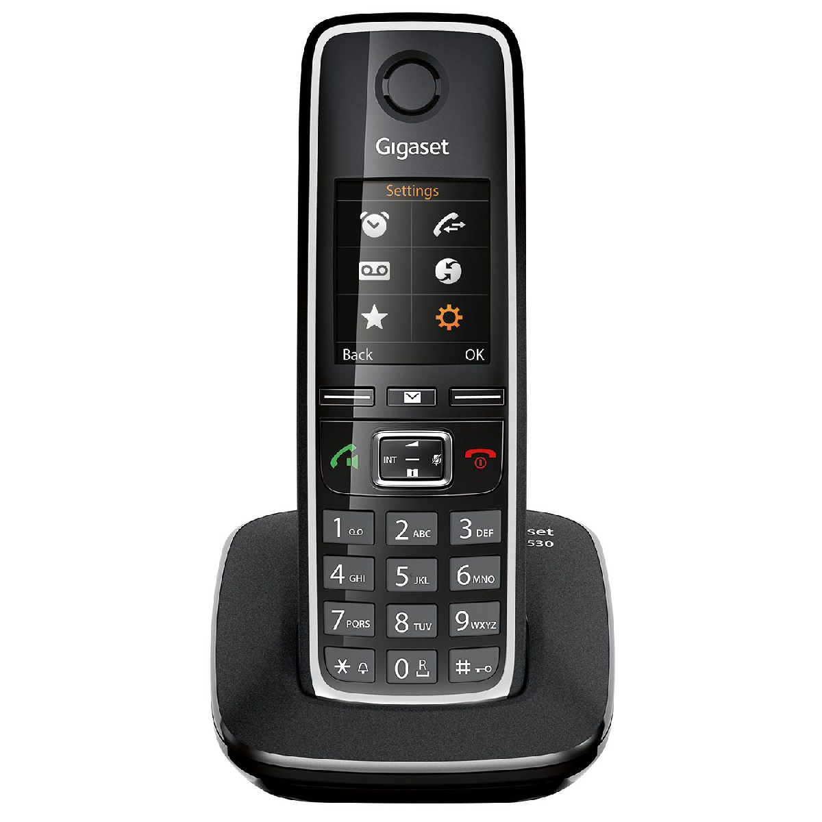 Ασύρματο Ψηφιακό Τηλέφωνο Gigaset C530 Μαύρο με Υποδοχή Hands Free 2.5mm και Κλιπ Ζώνης S30852-H2512-R601