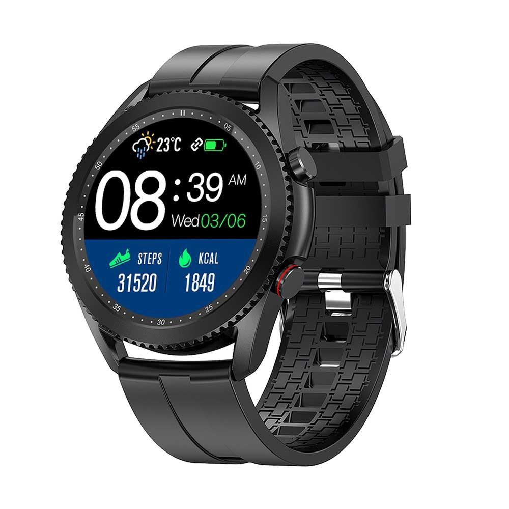 "Media-Tech Smartwatch Activeband Venetia MT869 1.3"" IPS Μαύρο Silicon Band με Λειτουργία Πραγματοποίησης Κλήσεων"