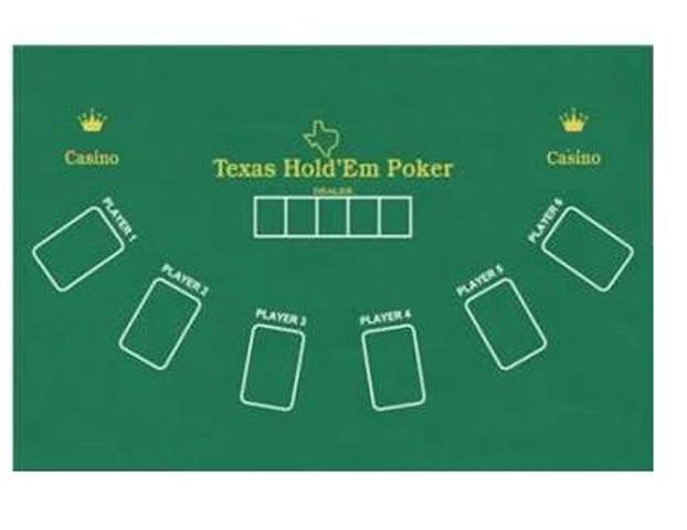 Τσόχα Blackjack Διπλής Όψης 6 Παικτών Texas HoldEm Poker