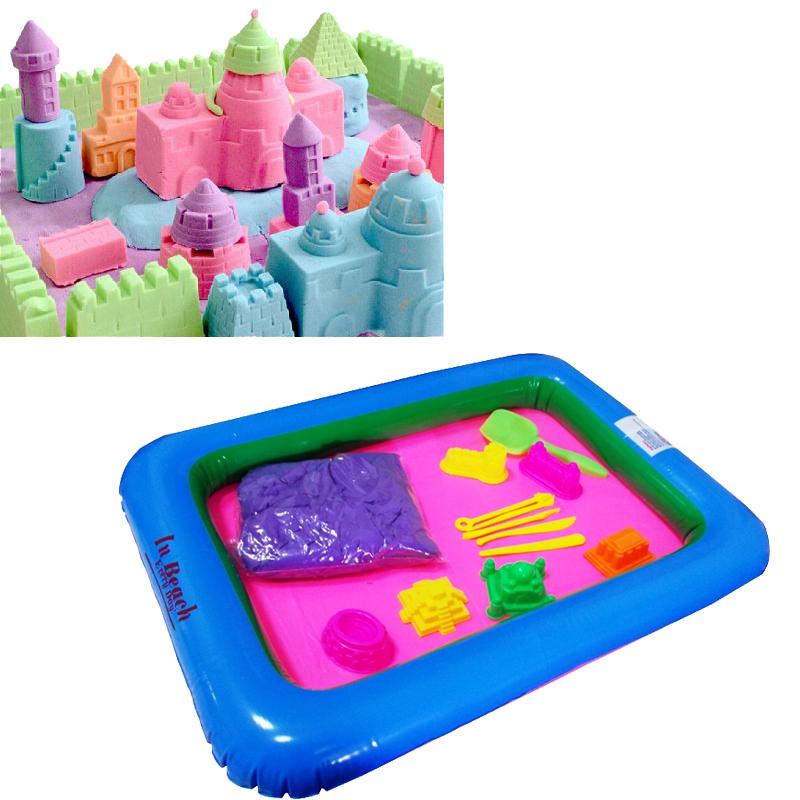 Σετ Μαγική Άμμος που Πλάθεται, με Εργαλεία, Τάπητα Παιχνιδιού και Κουτί Φύλαξης και Μεταφοράς OEM KL-K2