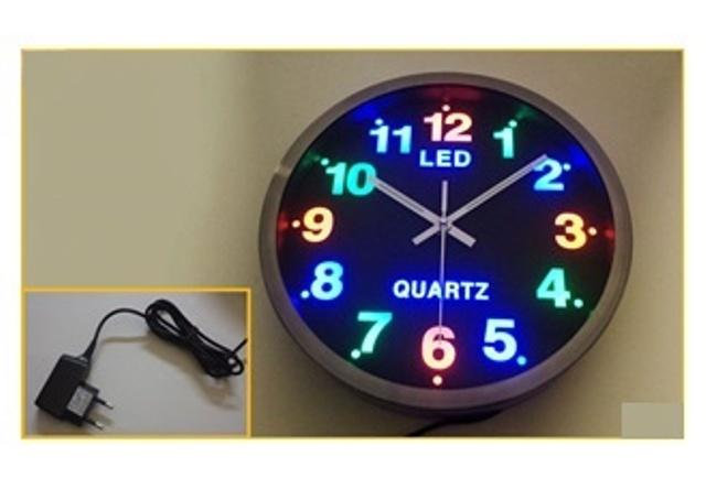 Ρολόι Τοίχου Μπλε Led
