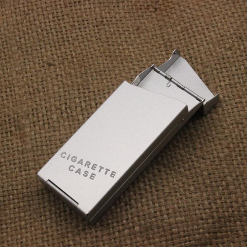 Αλουμινένια Θήκη Πακέτου SLIM Τσιγάρων με Αυτόματο Άνοιγμα