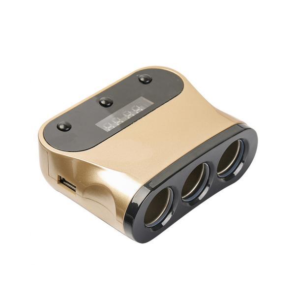 Φορτιστής Αυτοκινήτου με 3 Υποδοχές & 2 Θύρες USB OEM NB-A1