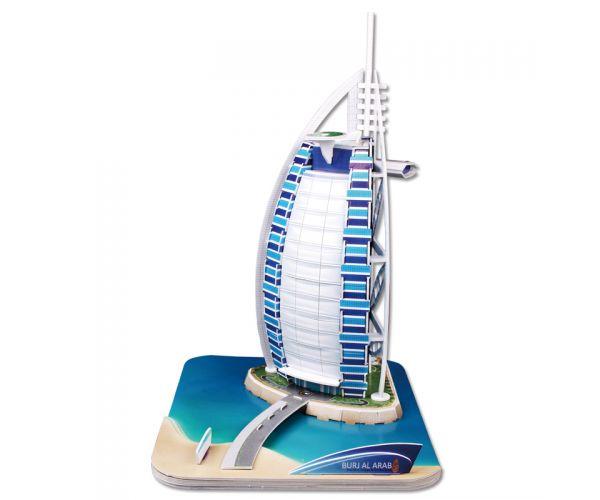 Tρισδιάστατο Παζλ του Ξενοδοχείου Burj Al Arab με 37 Κομμάτια