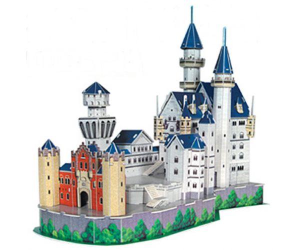 Τρισδιάστατο Πάζλ του Κάστρου Neuschwanstein στην Γερμανία με 98 Κομμάτια.
