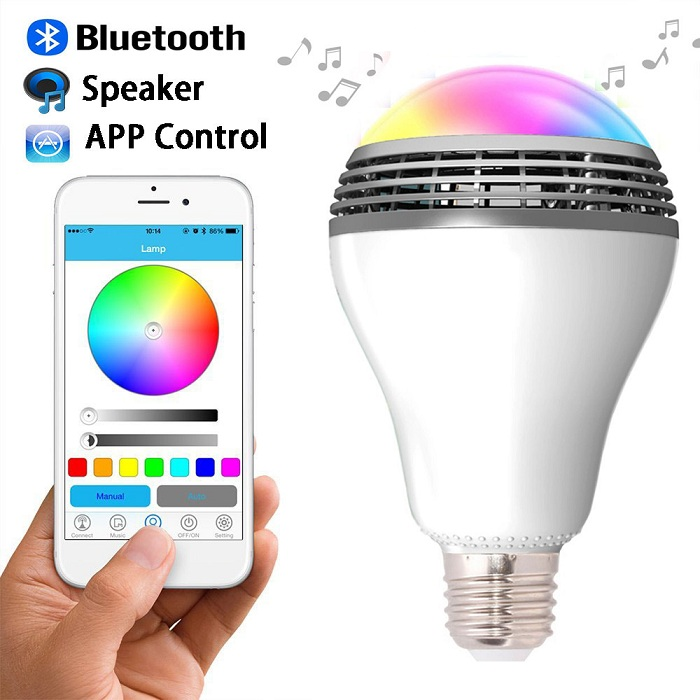 LED λάμπα RGB που αλλάζει χρώματα με ενσωματωμένο ηχείο Bluetooth