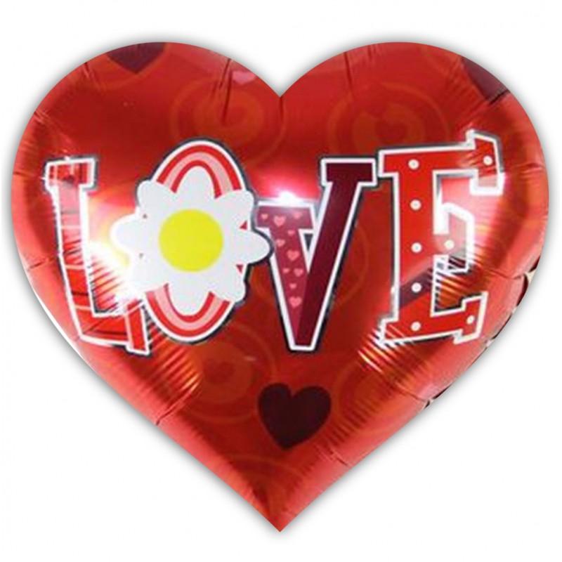 Μπαλόνι καρδιά 18 ιντσών Love & μαργαρίτα ND