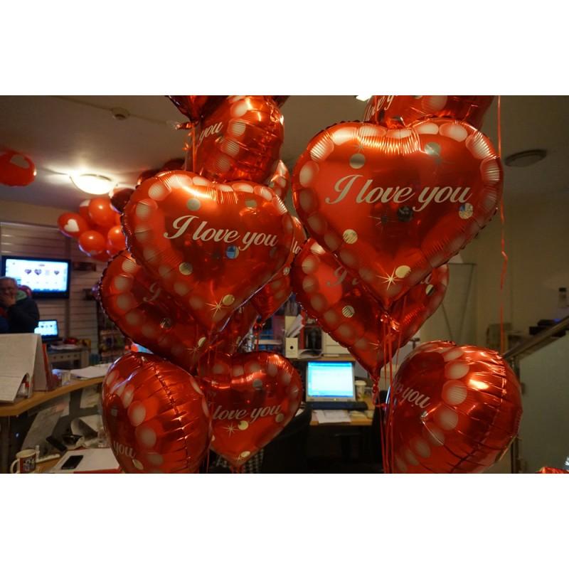 Μπαλόνια καρδιά 18 ιντσών I Love you BF7 ND