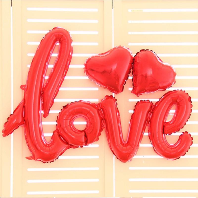Μπαλόνι LOVE χρυσό σχηματισμένη λέξη ND
