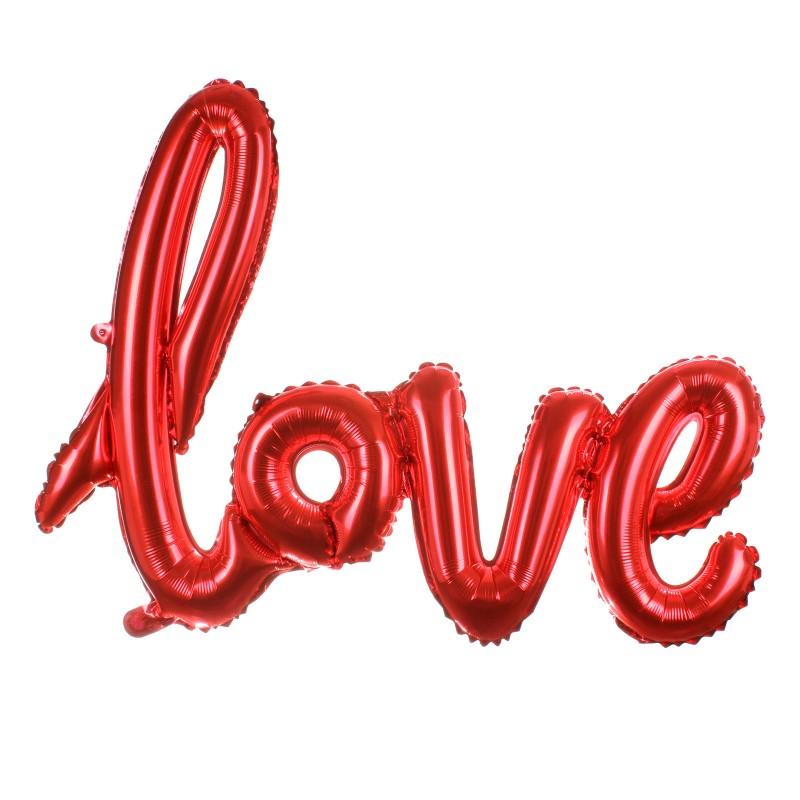 Μπαλόνι LOVE κόκκινο σχηματισμένη λέξη ND