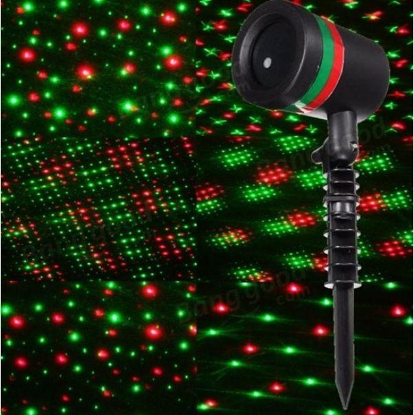 Νυχτερινός φωτισμός με προβολέα διακοσμητικού laser φωτός