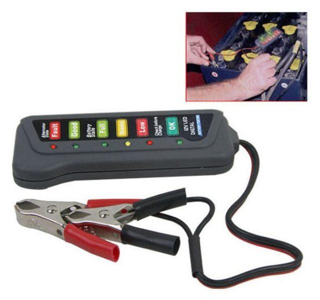 Διαγνωστικό μπαταρίας αυτοκινήτου με ένδειξη led