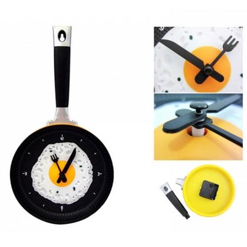 Ρολόι Τοίχου για την Κουζίνα με Σχέδιο Τηγάνι