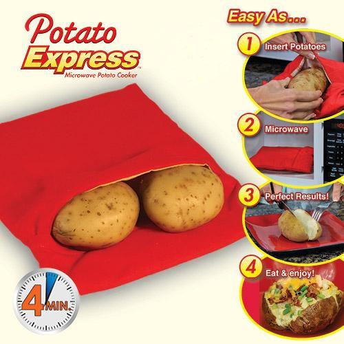 Θήκη Μαγειρέματος Πατάτας σε Φούρνο Μικροκυμάτων - Potato Express